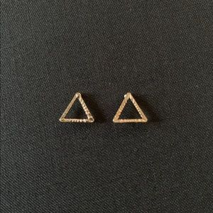 Gold Matte triangle earnings